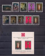 COLOMBIA 1968 - XXXIX CONGRESO EUCARISTICO EN BOGOTA - YVERT Nº 637/641**+AEREO 483/487** - Papes