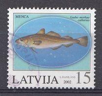 Lettonie 2002  Mi.nr.: 574 Fluss-und Seefische  Oblitérés / Used / Gestempeld - Latvia