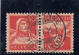 Suisse - Tête Bêche - N°YT 202a - Oblitéré - Année 1924-27 - Kehrdrucke