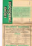 Philatélie L'écho De La Timbrologie N 1122 Etude Information Nouvelle émission Annonce Clubs Filoutéliques Grasset Indoc - Books, Magazines, Comics