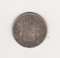 50 CENTIMES 1904 ALPHONSE XIII ARGENT MADRID - Other
