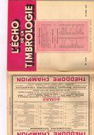 Philatélie L'écho De La Timbrologie N 1121 Etude Information Nouvelle émission Annonce Centenaire Des 2 Premiers Timbres - Books, Magazines, Comics