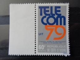 COTE D'IVOIRE 1979 Y&T N° 509 ** - 3e EXPOSITION MONDIALE DES TELECOMMUNICATIONS - Costa D'Avorio (1960-...)