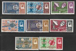 QATAR - N°64/71 ** (1965) ESPACE - U.I.T - - Qatar