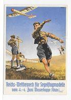 DT- Reich (009493) Propagandakarte HJ Reichs-Wettbewerb Für Segelflugzeuge Juni Wasserkuppe Mit SST Gersfeld Am 5.6.1938 - Storia Postale
