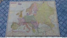 Carte De L'Europe Physique Et Politique  Foldex , Format 97cm X 75cm - Geographical Maps