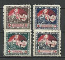 LATVIA Lettland 1920 Michel 51 - 54 Z * - Latvia