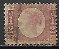 GRANDE BRETAGNE  /  U.K.     .1870.    .Y&T N° 49 Oblitéré.  .planche 19 - Usati