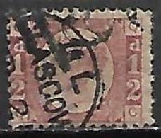 GRANDE BRETAGNE  /  U.K.   -  1870.    .Y&T N° 49 Oblitéré.  .planche 20.  Cote 100 € - Usati