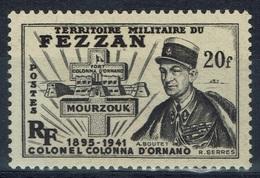 Fezzan (French Libya), 20f., Colonel Jean Colonna D'Ornano, 1949, MNH VF - Fezzan (1943-1951)