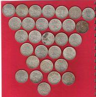 Monnaie Française Semeuse 5 Francs Argent Lot De 30 Pièces  9 Millésimes  Différents - France