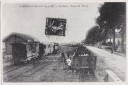 Be - Reproduction Cpa St GERMAIN LAXIS (77) - La Gare - Autres Communes