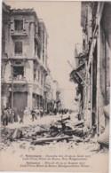 Be - Cpa Salonique - Incendie Des 18/19/20 Août 1917 - Café Floca, Hôtel De Rome, Rue Bulgaroctone - Grèce