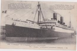 """Be - Cpa Paquebot :"""" L'Espagne"""" De La Compagnie Générale Transatlantique - Paquebots"""