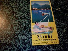 Autriche Dépliant  Touristique Avec Carte  Strobl Am Wolfgahgsee Salzkammergut Année 70/80? - Reiseprospekte
