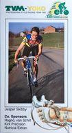 Postcard Jesper Skibby (blue Bicycle Serie) - TVM-Yoko - 1990 - Cycling