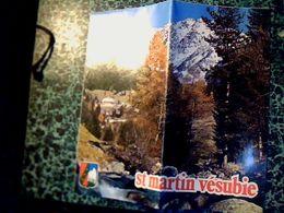 Dépliant  Touristique Avec Carte  Saint Martin Vésubie Année 70/80,? - Reiseprospekte