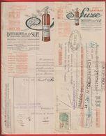 Facture + Quittance Distillerie De La Suze(Apéritif Gentiane).Maisons-Alfort ;  Brisson La Neuville Les Raon - France