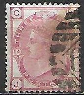 GRANDE BRETAGNE  /  U.K.   -  1873.    .Y&T N° 51 Oblitéré.  .planche 14 - Usati