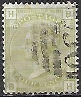 GRANDE BRETAGNE  /  U.K.   -  1876  .Y&T N° 59 Oblitéré. Planche 15 .  Cote 300 € - Usati