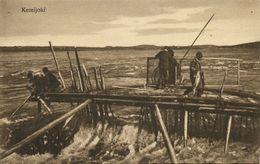 Finland Suomi, ROVANIEMI, Kemijoki, Fishermen (1910s) Postcard - Finland