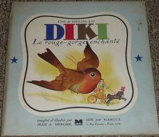 Rare Ancien Livre Illustré Par Jean A Mercier 1947, DIKI Le Rouge-Gorge Enchanté, Conte De Bernard Roy, Ed. Marcus - Bücher, Zeitschriften, Comics