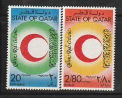 QATAR - N°816/7 ** (1982) Croissant-Rouge - Qatar