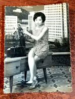 MONTAGE PHOTO SNAPSHOT VIETNAM INDOCHINE ETHNIC SAIGON FEMME WOMAN STRALETTE SURREALISME PHOTOMONTAGE SURRELISM - Fotografía