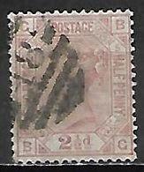 GRANDE BRETAGNE  /  U.K.   -  1875    Y&T  N° 56 Oblitéré  .planche  5.  Cote 50 € - Usati