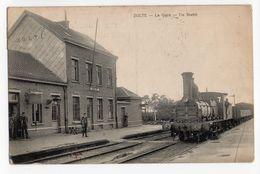 Zulte Stoomtram Tram à Vapeur In De Statie Gare - Zulte