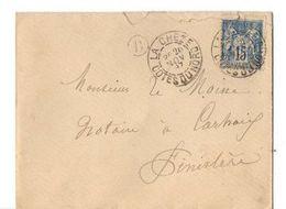 B20 1897  Lettre De La Cheze Pour  Carhaix  Cachet B - Postmark Collection (Covers)