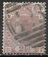 GRANDE BRETAGNE  /  U.K.    -  1875    Y&T  N° 56 Oblitéré.  Planche  7 .  Cote 45 € - Usati