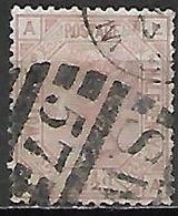 GRANDE BRETAGNE  /  U.K.   -  1875 .   Y&T  N° 56 Oblitéré .planche  8 . Cote 50 € - Usati