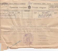Deutsches Reich Besetzung WKII Serbien Telegramm 1941 - Occupation 1938-45