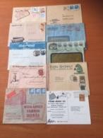 +++ Sammlung 10 Briefe Und Karte Werbung Alle Welt +++ - Timbres