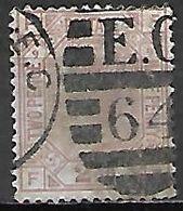 GRANDE BRETAGNE  /  U.K.   -  1875    Y&T  N° 56 Oblitéré  .planche  9 . Cote 45 € - Usati