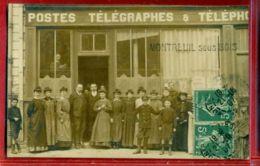 2581 -  MONTREUIL - CARTE PHOTO - POSTES TELEGRAPHES ET TELEPHONE PTT - Montreuil