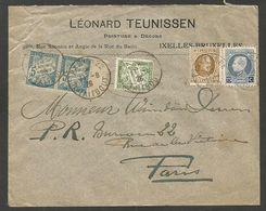 Linkebeek, Brief 1928 Met 50 En 75 Cent. En Franse Portzegels (Timbres-Taxes Franç.) Naar Poste Restante Bureau 22 Paris - Belgio