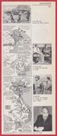 Guerre D' Indochine. 3 Cartes Du Conflit. Divers Vues. J Letourneau, Bao-Daï, De Lattre De Tassigny ... Larousse 1960. - Documents Historiques