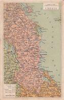 Cartolina Cartina ALBANIA Scala 1 A 2.550.000 - Albania