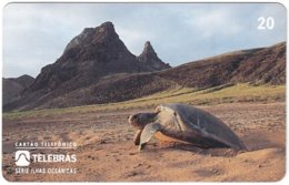 BRASIL M-351 Magnetic Telebras - Animal, Sea Life, Turtle - Used - Brazil