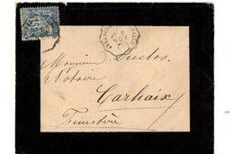 B20 1892 Lettre  Pour Carhaix  Ambulants Cachets - Postmark Collection (Covers)