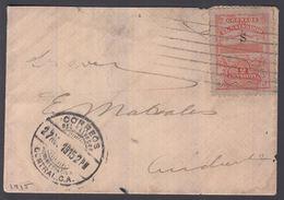1915. EL SALVADOR.  2 CENTAVOS ALACIO NACIONAL Overprinted S On Cover From SAN SALVAD... () - JF362196 - El Salvador