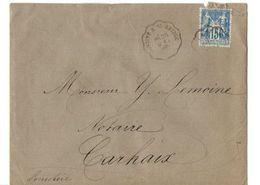 B20 1893  Lettre Pour Carhaix Cachets Et Ambulants - Marcophilie (Lettres)