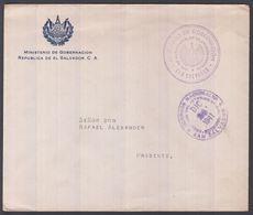 1941. EL SALVADOR.   OFICIAL Cover Locally From MINISTERIO DE GOBERNACION SAN SALVADO... () - JF362201 - El Salvador