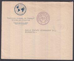 1943. EL SALVADOR.   OFICIAL Cover  Locally From DIRECCION GENARAL DE CORREOS OFICINA... () - JF362203 - El Salvador
