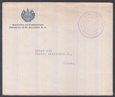 1941. EL SALVADOR.   OFICIAL Cover Locally From MINISTERIO DE GOBERNACION SAN SALVADO... () - JF362204 - El Salvador