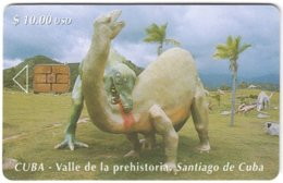 CUBA A-311 Chip Etecsa - Prehistoric Animal, Dinosaur - Used - Cuba
