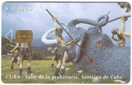 CUBA A-312 Chip Etecsa - Prehistoric Animal, Mammoth - Used - Cuba