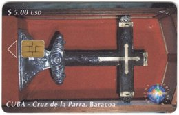 CUBA A-314 Chip Etecsa - Religion, Holy Statuette - Used - Cuba